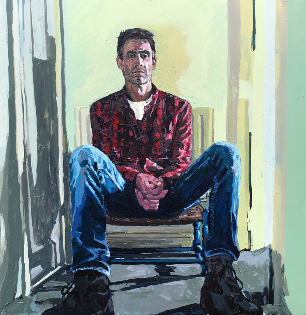 Painting of a man.