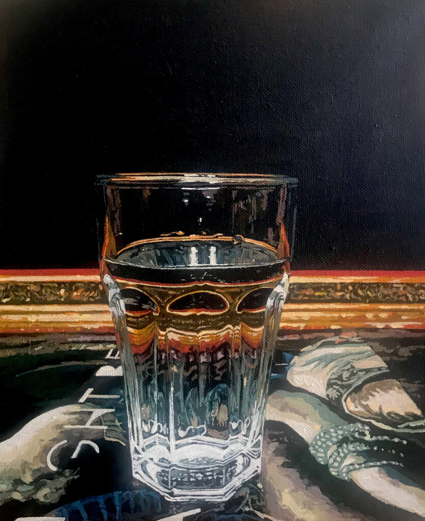 Painting of a glass