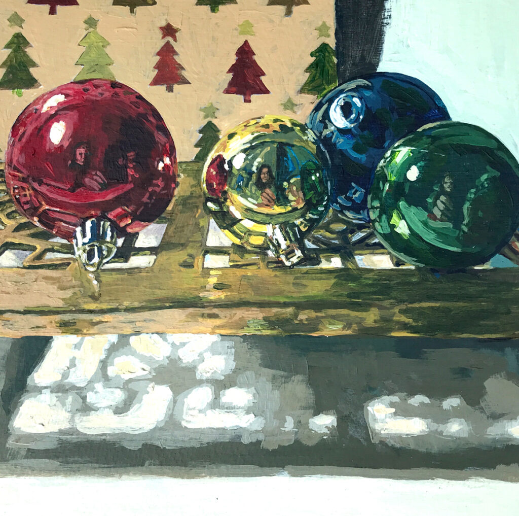 Painting of Christmas Decorations
