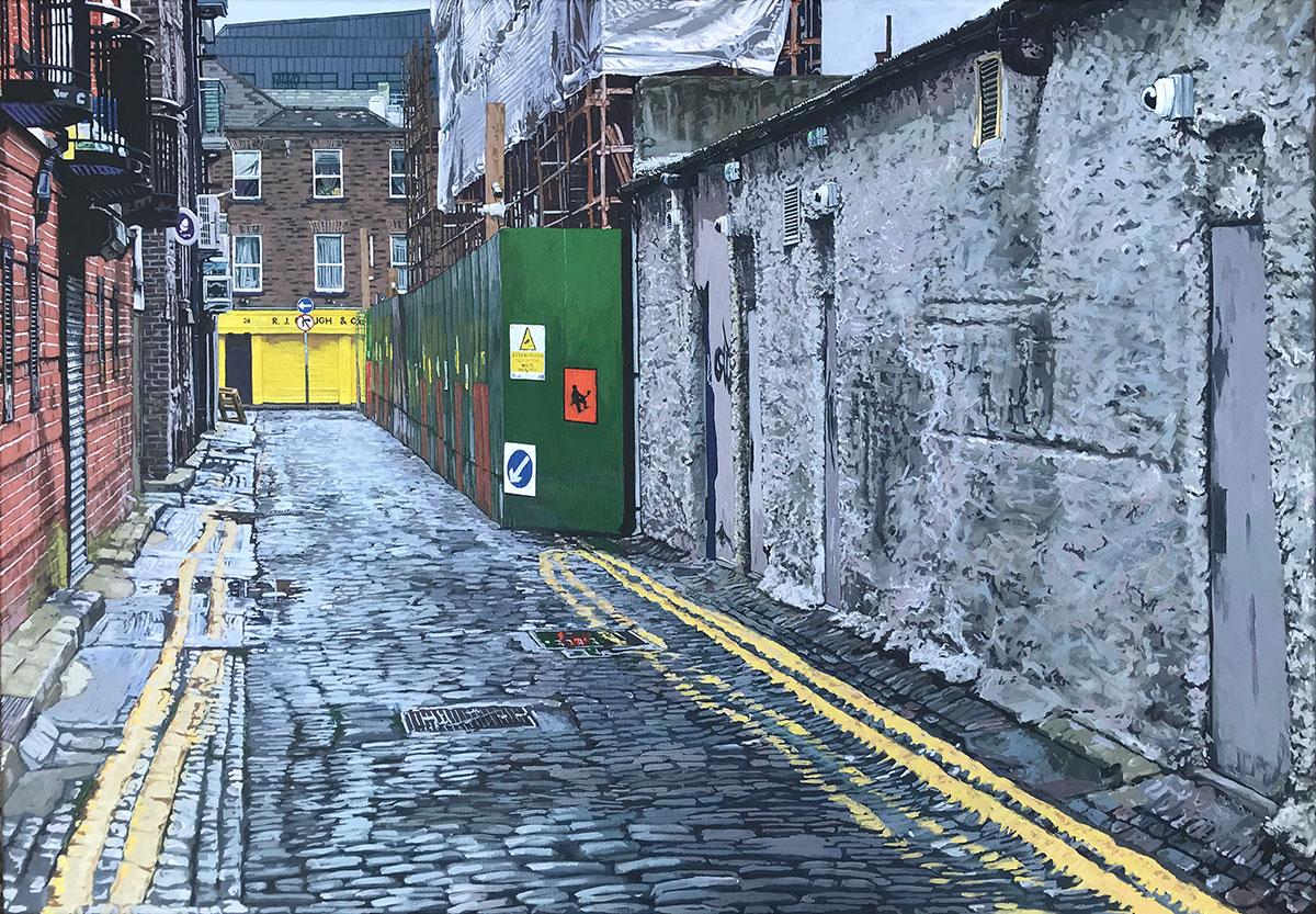 Painting of Anglesea Row, Dublin